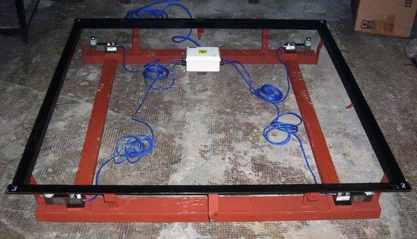 Bascula de plataforma en piso